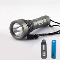 T6 2000lm LED Underwater Diving Flashlight Torch Waterproof + 18650 battery