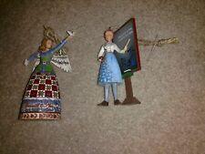 2 Jim Shore figurines