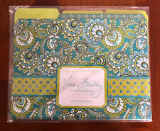 Vera Bradley File Folders With Labels Take Note Collection Green Paisley Floral