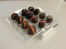 Chocolate Candy Acrylic Showcase Display Case Tray For Retail Stores 6 X 6