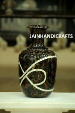 "Marble Flower 10"" Vase Pot Jar Micro Mosaic inlay Stone random table top use"