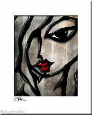 WEATHERED - Original Abstract Painting Modern Art Urban Face Print by Fidostudio