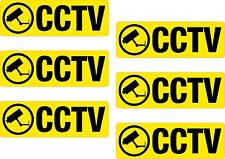 6 x CCTV Printed Vinyl Sticker Label Shelf Edge 25x75mm Shop Off License Garage