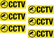 6 x CCTV Printed Vinyl Sticker Label Shelf Edge 25x75mm Shop Off License Garage