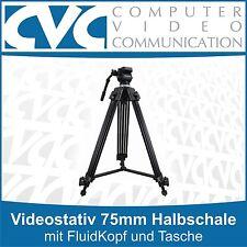 Videostativ VZTK75A mit 75mm Halbschale mit FluidKopf und Tasche