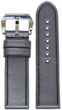 26mm RIOS1931 for Panatime Carbon Grey Kevlar Style Synthetic Watch Band w Black