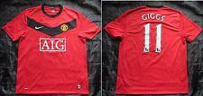 Ryan Giggs #11 Manchester United Home Shirt Trikot Nike 2009-2010 Erwachsene Größe L