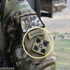 "US ARMY in AFGHAN vel©®Ø MULTICAM SSI: 4th Infantry ""IVY"" Division w/ RANGER Tab"