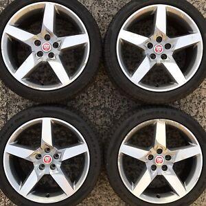 4 Genuine Jaguar XE 18 Alloy Wheels 225 45 245 40 Tyres 5 Spoke GX73 1007 FA GA