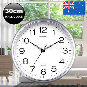 Wall Clock Quartz Round Square Wall Clock Silent Non-Ticking Battery Operated