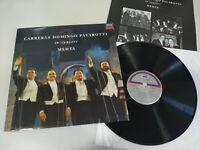 """Los 3 Tenores Carreras Domingo Pavarotti Mehta 1990 - LP Vinilo 12"""" VG/VG"""