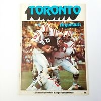 1970 Canadian Football League Illustrated TORONTO ARGONAUTS CFL