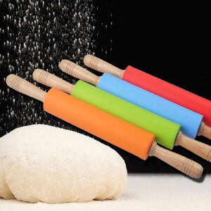 Rolling Pin Kitchen Tool Craft Baking Fondant Cake Decoration Dough Roller