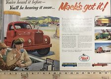 "1955 MACK THERMODYNE WESTERN SERIES TRUCK MAGAZINE AD SALES BROCHURE 20""x13"""