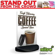 More details for fresh takeaway coffee here ecoflex 2 pavement a board sign *printed & delivered*