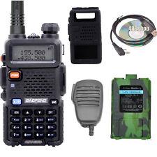 UV-5R walkie talkie + Battery+ Speaker/MIC + Case + Earpiece +USB PROG. Cable