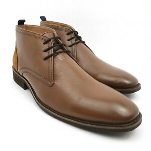 Mens Size 10 Brown Lace Up Casual Formal Chukka Boots