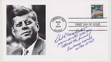 SIGNED ROBERT BRUTON FDC AUTOGRAPHED FIRST DAY COVER JFK ASSASSINATION OSWALD