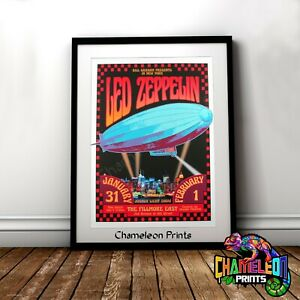 Led Zeppelin Mothership Poster Print In A3 A4