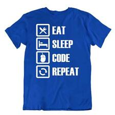 Eat Sleep Code Repeat Tshirt Programmer T-Shirt Awesome Cool Tee