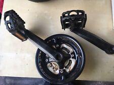 Square Taper MTB 3 Ring Crankset Chainset + 170m Cranks + Pedals, Mountain Bike