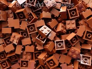 LEGO BRICKS 200 x BROWN 2x2 Pin  From Brand New Sets Sent In a Sealed Bag
