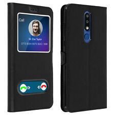 Funda Nokia 3.1 Plus con doble ventana Carcasa de silicona - Negro