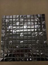 slate silver mirror mosaic sheet wall tiles