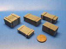 NEU -Kistenset 3. mittelgroße Holzkisten, WK II,RC Panzer,Modellbau Maßstab 1:16