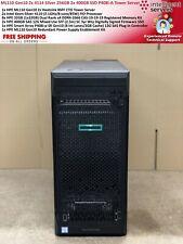 ML110 Gen10 2x 4114 Silver 256GB 2x 400GB SSD P408i-A Tower Server