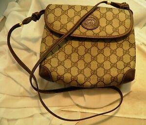 Authentic Gucci Monogram Embossed Leather Crossbody Bag 0071230087