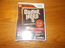 Guitar Hero 5 (Nintendo Wii, 2009) VIDEO GAME BRAND NEW SEALED