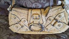 GUESS STUDDED HOBO SHOULDER HANDBAG  VINTAGE LEATHER VERY CLEAN CHIC HIP CUTE!!!