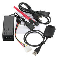 HD Drive Adapter Cable USB 2.0 to IDE SATA 2.5 3.5 For Hard Disk DVD-ROM US Plug