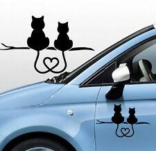 Adesivo Stickers Tuning GATTINI innamorati coda a cuore gatti, auto, casco, muro
