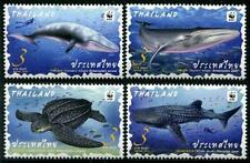 WWF Whales Turtle mnh set of 4 stamps 2019 Thailand Marine Life