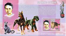 CHIENS & CHATS - DOGS & CATS CONGO 2006 M. Curie block imperforated