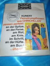 RAR Vintage Kunert Hit 67 glatte Strumpfhose Gr. 36-38 inka Collant Tights OVP
