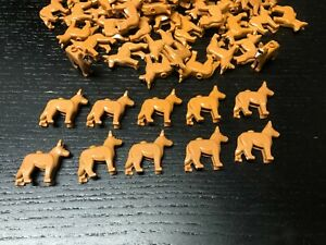 LEGO Dog lot of 10 brown / tan City Dogs Animals minifigure accessories