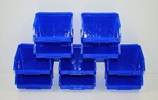 10 x Stapelboxen Afo Gr.1 blau Sichtlagerkästen Stapelkästen NEU