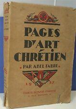 Abel Fabre… Pages d' Art Chrétien, gros livre illustré…World FREE Shipping*