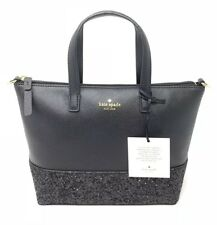 Kate Spade Greta Court Ina Black Glitter Crossbody Bag WKRU5610 $169