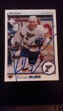 1991/92 Upper Deck Hockey #328 Autographed Rich Sutter Card COA