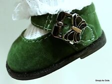 "GREEN SUEDE Butterfly DOLL SHOES fits American Girl 15"" BITTY BABY & TWINS DOLLS"