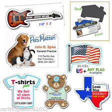 """75 Custom Shaped Magnetic [Business Card size] - almost """"Any Shape"""" [17-30 mil]"""