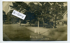 Craigville MA Mass (Barnstable) RPPC real photo street view, homes, 1918