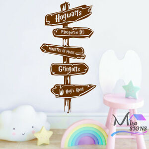 Sign Post Harry Potter Decal Hogwarts Ministry of Magic Wall Sticker Decor Art