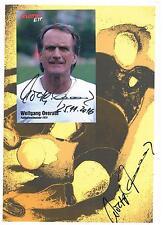 Wolfgang Overath Autogramm DIN A 4 + sep. Autogrammkarte