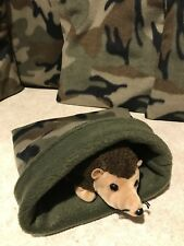 Green Camo Dark - snuggle sack- small animal Bonding Bag