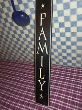 """24"""" Black Primitive Wood Sign """"Family"""" Rustic Country Home Decor Made in USA!"""